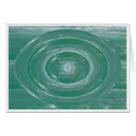 Sea Green Waves : Ovals n Rounds Greeting Card