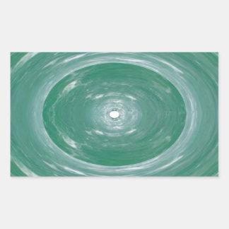 Sea Green Waves : Ovals n Rounds Rectangular Sticker