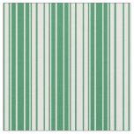 [ Thumbnail: Sea Green & White Colored Pattern Fabric ]