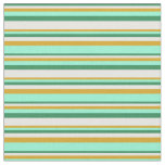 [ Thumbnail: Sea Green, White, Goldenrod & Aquamarine Colored Fabric ]