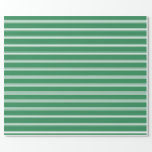 [ Thumbnail: Sea Green & White Pattern Wrapping Paper ]