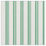 [ Thumbnail: Sea Green & White Stripes/Lines Pattern Fabric ]