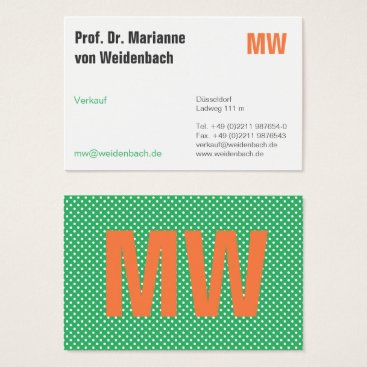 Lawyer Themed Sea-green with orange business card