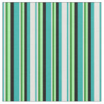 [ Thumbnail: Sea Green, Yellow, Forest Green, Green & Black Fabric ]