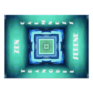 Sea Green Zen Tranquility Lifestyle Poster