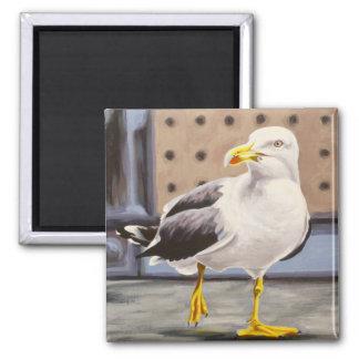 Sea Gull 2 Inch Square Magnet