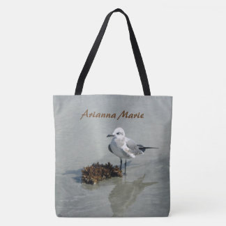 Sea Gull and Seaweed Personalized Tote Bag