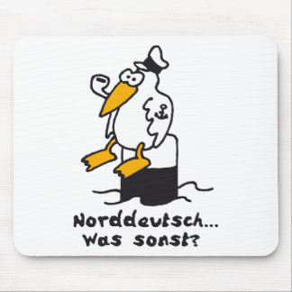 Sea gull at the port 3c North German Mouse Pad