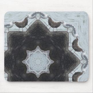 Sea Gull Bird Mandala Mouse Pad