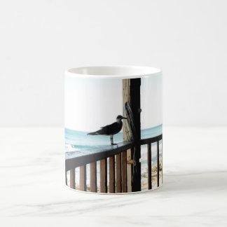 Sea Gull on Blue Lagoon Coffee Mug