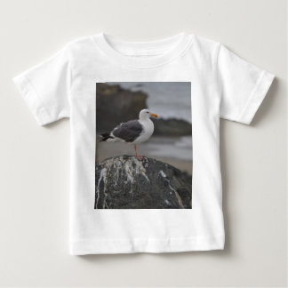 sea gull on rock at Cambria, California Infant T-shirt