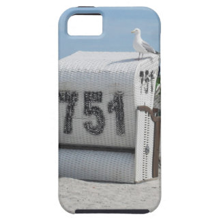 Sea gull on the beach chair at the North Sea iPhone SE/5/5s Case