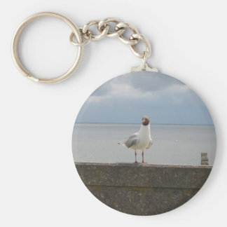 Sea gull on the wall North Sea Basic Round Button Keychain