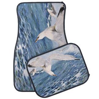 Sea Gull Over the Ocean Painting Car Mat