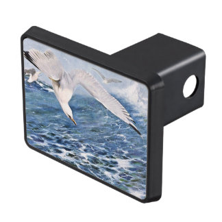 Sea Gull Over the Ocean Painting Hitch Cover