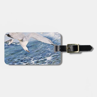 Sea Gull Over the Ocean Painting Travel Bag Tags