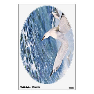 Sea Gull Over the Ocean Painting Room Decal