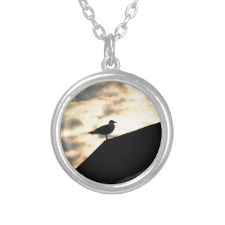 Sea Gull Sunset Silver Plated Necklace
