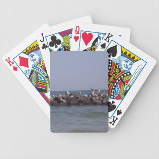 Sea Gulls At The Sea Shore Bicycle Playing Cards