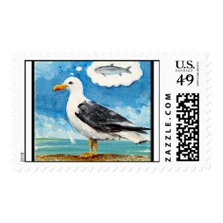 Sea Gulls Dream Lunch Postage