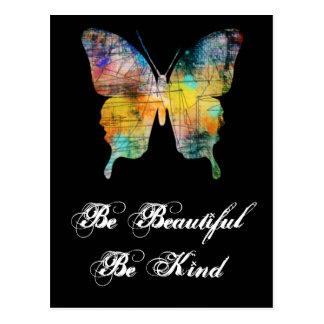 Sea hermoso, sea mariposa buena tarjeta postal