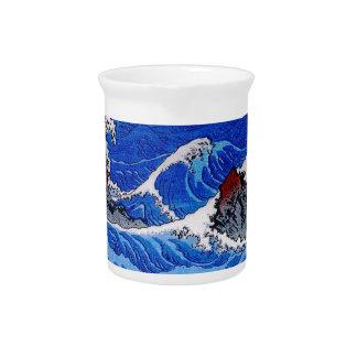 Sea, Hiroshige 歌川広重 Beverage Pitchers