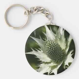 Sea Holly Basic Round Button Keychain