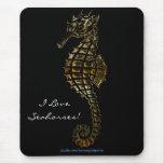 SEA-HORSE 3D Metallic Art Mousepad