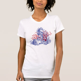 Sea-horse and Corals T Shirts