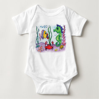 Sea Horse and Fish Baby Bodysuit