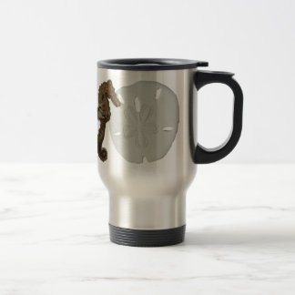 Sea Horse and Sand Dollar Travel Mug