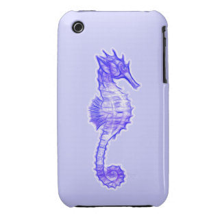 Sea Horse Art on an iPhone 3 Case for Kids