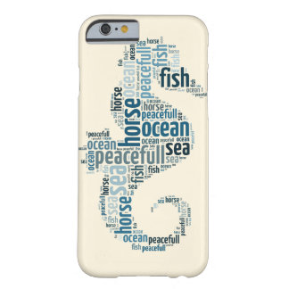 Sea horse as word cloud design barely there iPhone 6 case