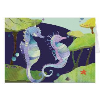 Sea Horse: Blank Card