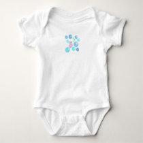 Sea Horse Bubbles Baby Bodysuit