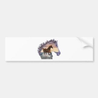 Sea horse bumper sticker