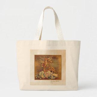 sea horse canvas bag