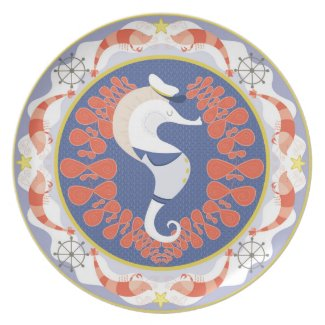 Sea Horse Captain Plates