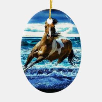 Sea horse ceramic ornament