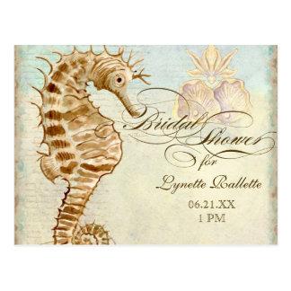 Sea Horse Coastal Beach - Bridal Shower Postcard