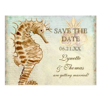 Sea Horse Coastal Beach - Save the Date Postcard