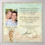 Sea Horse Coastal Beach - Wedding Personalized Poster