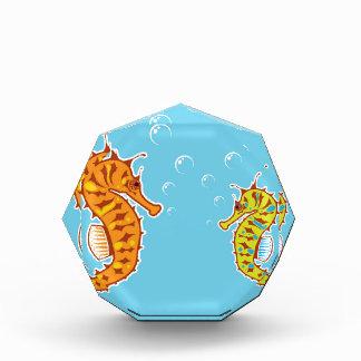 Sea Horse color Acrylic Award