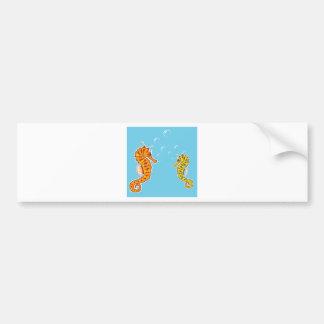 Sea Horse color Bumper Sticker