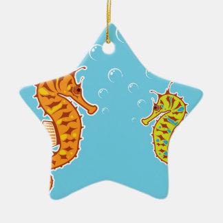 Sea Horse color Ceramic Ornament