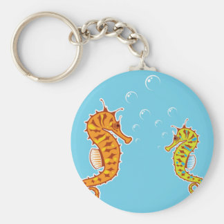 Sea Horse color Keychain