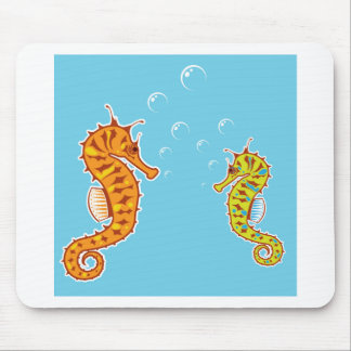 Sea Horse color Mouse Pad