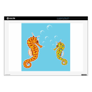 """Sea Horse color Skin For 17"""" Laptop"""