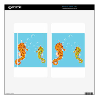 Sea Horse color Skin For Kindle Fire