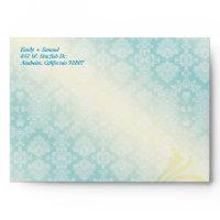 Sea Horse Couple Destination Wedding A7 Envelope